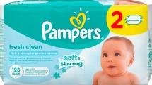 Влажные салфетки Pampers Baby Fresh Clean 128 шт