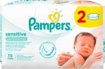 Влажные салфетки Pampers Sensitive 112 шт