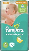 Подгузники Pampers Active Baby 4 (8-14 кг) 70 шт