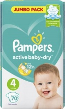 Подгузники Pampers Active Baby 4 (9-14 кг) 70 шт