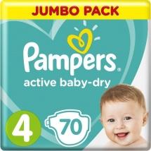 Подгузники Pampers Active Baby 4 (9-14 кг) 70 шт