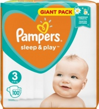 Подгузники Pampers Sleep&Play 3 (6-10 кг) 100 шт