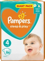 Подгузники Pampers Sleep&Play 4 (9-14 кг) 86 шт