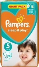 Подгузники Pampers Sleep&Play 5 (11-16 кг) 74 шт