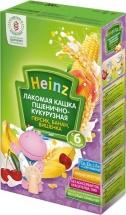 "Каша лакомая ""Пшенично-кукурузная персик, банан, вишня"", с 6 мес., 200гр., Heinz"