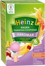 Каша Heinz Лакомая молочная пшенично-кукурузная персик-банан-вишня с 6 мес 200 г