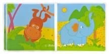 """Книжка для ванны Мир детства """"Путешествие в джунглях"""""""