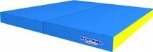 Мат Romana pro 100х100х10 см двойной, голубой/желтый