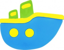 Мини-коврик Valiant Кораблик, голубой