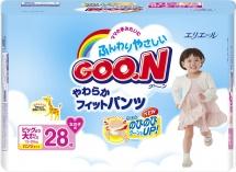 Трусики Goon для девочек sBig (13-25 кг) 28 шт