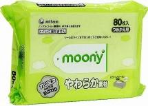 Влажные салфетки Moony 80 шт