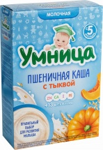 Каша Умница молочная пшеничная с тыквой с 5 мес 200 г
