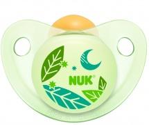 Пустышка Nuk Trendline Night & Day Листочки латекс ортодонтическая с 0 до 6 мес