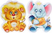 Пазлы магнитные Vladi Toys Baby puzzle. Зоопарк, мягкие