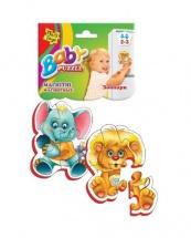 """Мягкие магнитные беби пазлы """"Зоопарк"""", Vladi Toys"""