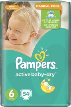 Подгузники Pampers Active Baby 6 (15+ кг) 54 шт