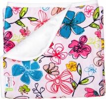 Пеленка GlorYes непромокаемая 80х68 см, цветы