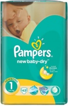 Подгузники Pampers New Baby 1 (2-5 кг) 43 шт