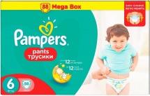 Трусики Pampers 6 (16+ кг) 88 шт
