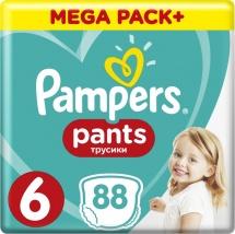 Трусики Pampers 6 (15+ кг) 88 шт