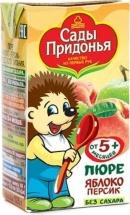 Пюре Сады Придонья Яблоко-Персик с 5 мес 125 г