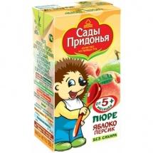 """Пюре """"Яблоко-персик"""" с 5 мес., 125 мл., Сады Придонья"""