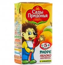 Пюре Сады Придонья Яблоко-Абрикос с 5 мес 125 г