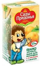 """Пюре """"Яблоко-абрикос"""" с 5 мес., 125 мл., Сады Придонья"""