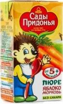 Пюре Сады Придонья Яблоко-Морковь с 5 мес 125 г
