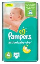 Подгузники Pampers Active Baby 4 (8-14 кг) 76 шт