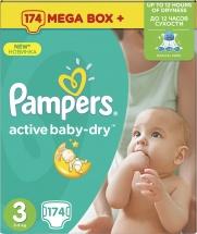Подгузники Pampers Active Baby 3 (5-9 кг) 174 шт