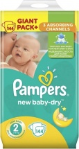 Подгузники Pampers New Baby 2 (3-6 кг) 144 шт
