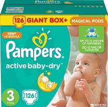 Подгузники Pampers Active Baby 3 (5-9 кг) 126 шт