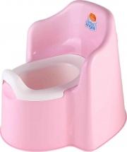 Горшок детский 'Little king' розовый, Пластик-Центр
