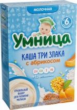 Каша Умница молочная 3 злака с абрикосом с 6 мес 200 г