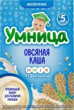 Каша молочная овсяная, с 5 мес., 200 г, Умница