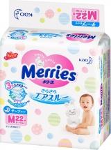 Подгузники Merries M (6-11 кг) 22 шт
