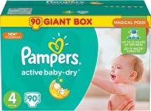 Подгузники Pampers Active Baby 4 (8-14 кг) 90 шт