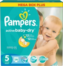 Подгузники Pampers Active Baby 5 (11-18 кг) 126 шт