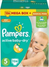 Подгузники Pampers Active Baby 5 (11-18 кг) 126 шт