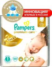Подгузники Pampers Premium Care 1 (2-5 кг) 88 шт