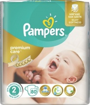 Подгузники Pampers Premium Care 2 (3-6 кг) 80 шт