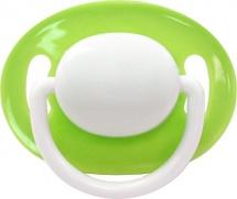 Пустышка Lubby С рельефной поверхностью зеленая силикон круглая с 3 мес