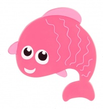 Мини-коврик Valiant Рыбешка, розовый
