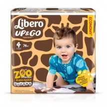 Трусики Libero Up&Go 4 (7-11 кг) 74 шт.