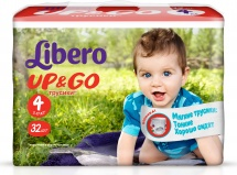 Трусики Libero Up&Go 4 (7-11 кг) 32 шт