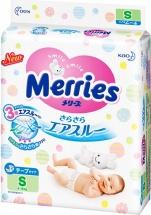 Подгузники Merries S (4-8 кг) 82 шт
