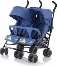Коляска-трость для двойни Baby Care City Twin синий (Blue)