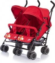 Коляска-трость для двойни Baby Care City Twin красный (Red)