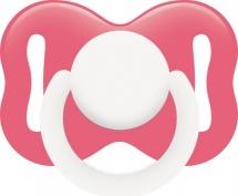 Пустышка Lubby Овальная розовая силикон ортодонтическая с 3 мес